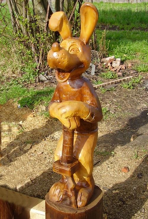 Статуэтки деревянные для сада