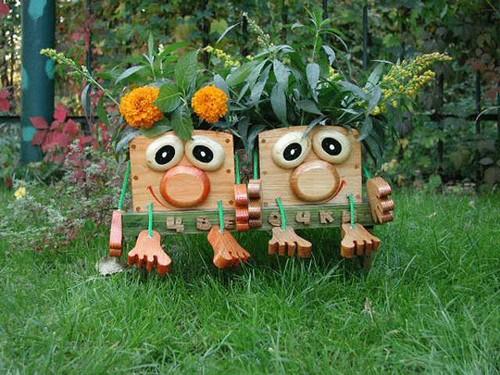 Статуэтки деревянные для сада фото