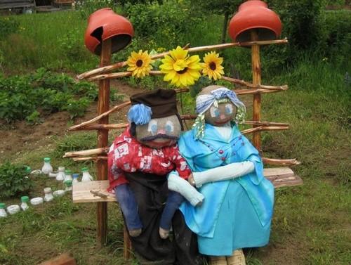 Садовые статуэтки для украшения усадьбы