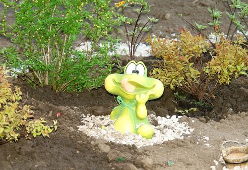 Статуэтка лягушки для сада фото