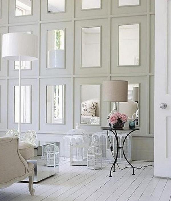 зеркальные плитки на стену