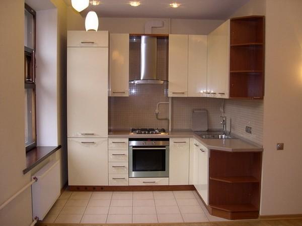 маленькие угловые кухни фото