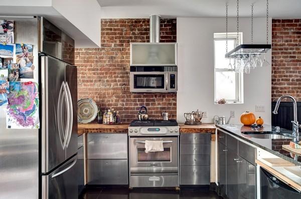 интерьер кухни угловой
