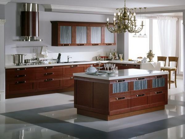 Угловая кухня с островом фото