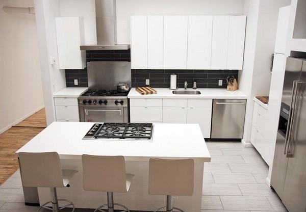 Угловая кухня современная фото