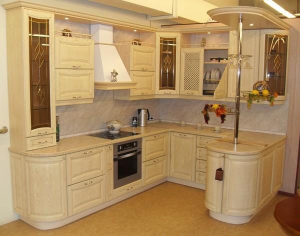 угловая мебель для кухни с барной стойкой