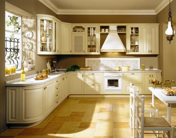Красивые угловые кухни с окном фото