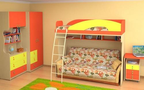 Кровать-чердак с бортиком