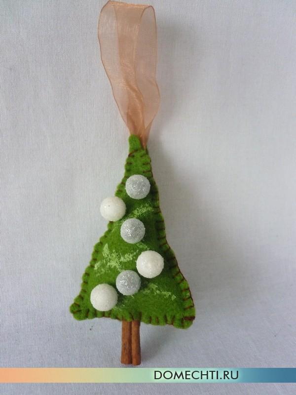 Новогодняя елка маленькая из фетра