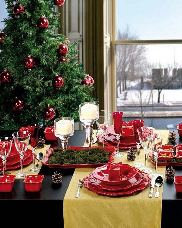 Сервировка стола на Новый год 2015