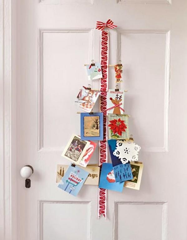 Елочка из открыток на дверь