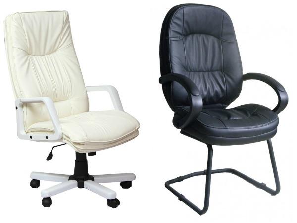 Офисные кресла из искусственной и экокожи фото
