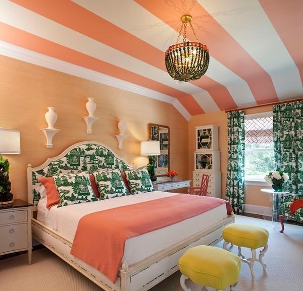 персиковый цвет в интерьере сочетание
