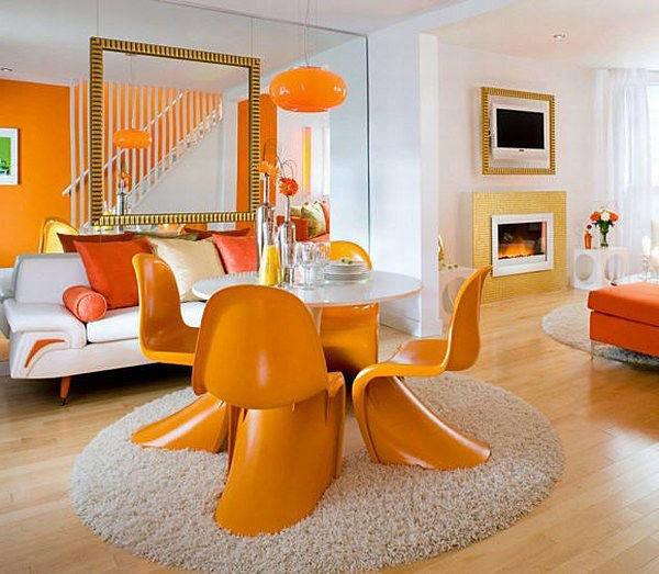 Абрикосово-персиковый цвет в дизайне интерьера квартиры