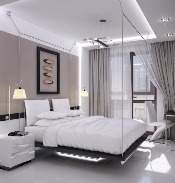 Роскошная спальня в стиле техно