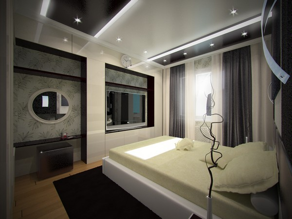 Красивая спальня в стиле техно фото