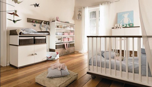 Пастельные оттенки в комнате новорожденного мальчика