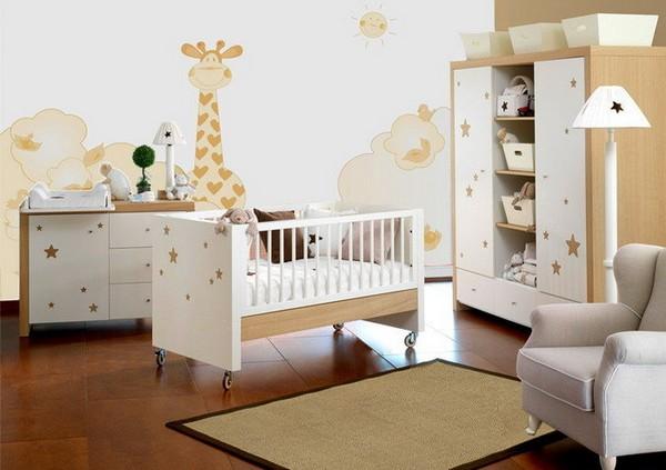 Мебель и интерьер детской комнаты для новорожденного мальчика