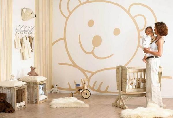 Комната для новорожденного мальчика фото