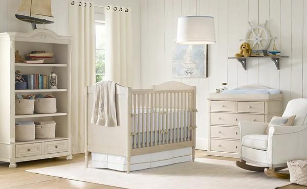 Комната для маленького мальчика в светлых тонах
