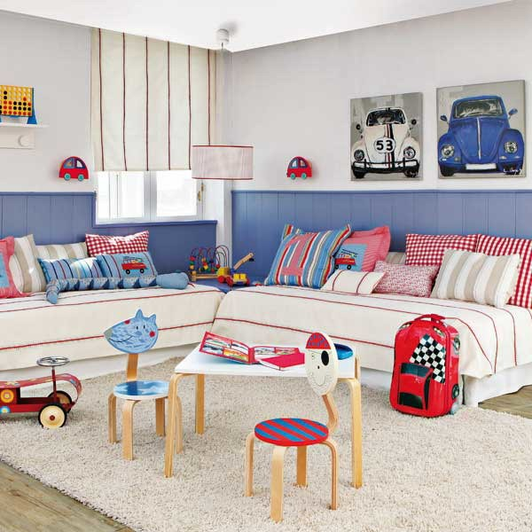 Зонирование детской комнаты для мальчиков