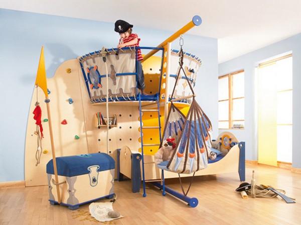 Пиратская детская комната для мальчика фото