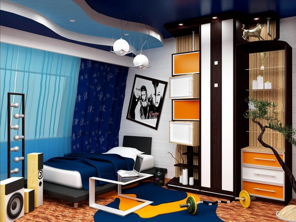 Стильный интерьер комнаты для подростка мальчика