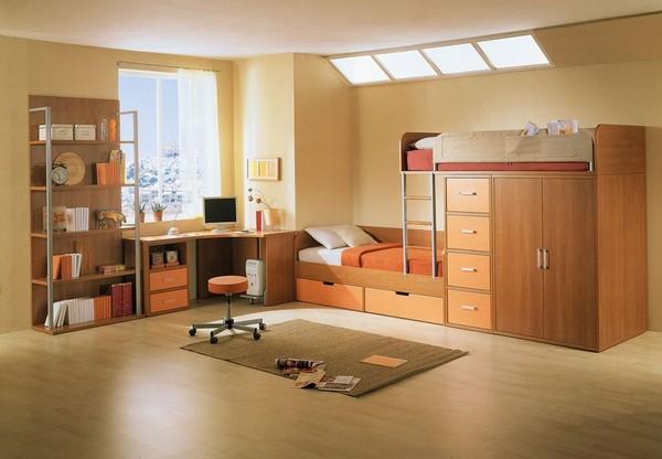 Мебель в комнате для 2 мальчиков