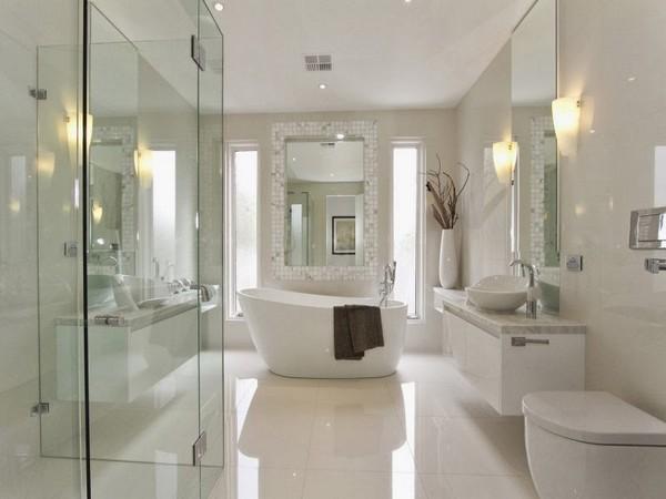 Душевое ограждение в ванной без поддона