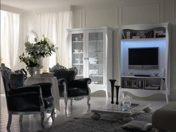 Встроенный телевизор на стене фото