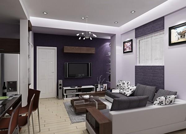 Современная гостиная совмещенная с кухней