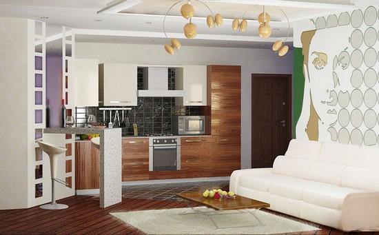 Малогабаритная кухня в углу квартиры