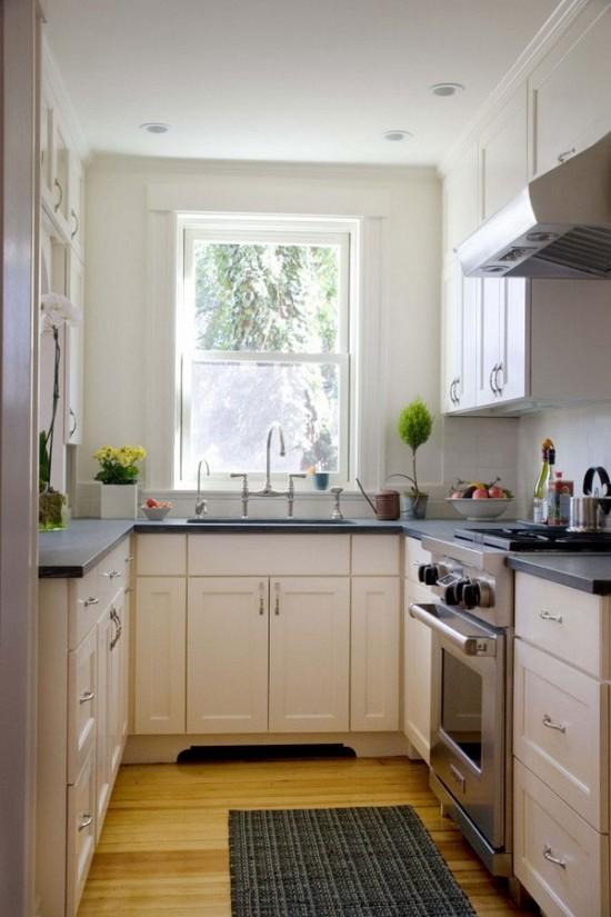 П-образная малогабаритная кухня фото