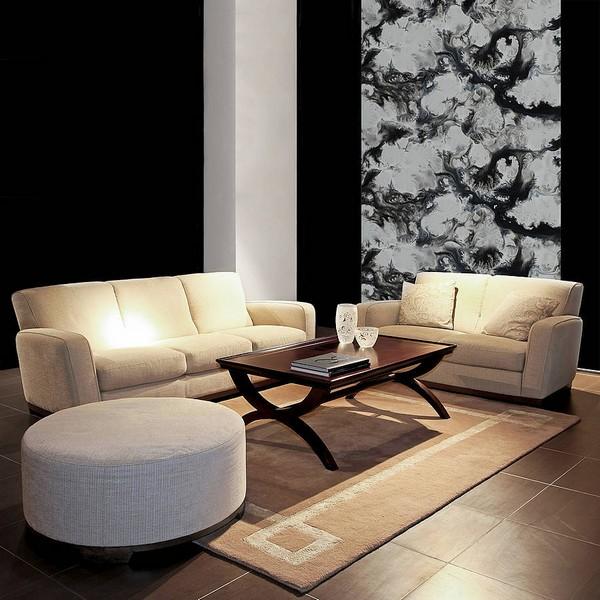 Черные и черно-белые стены в интерьере
