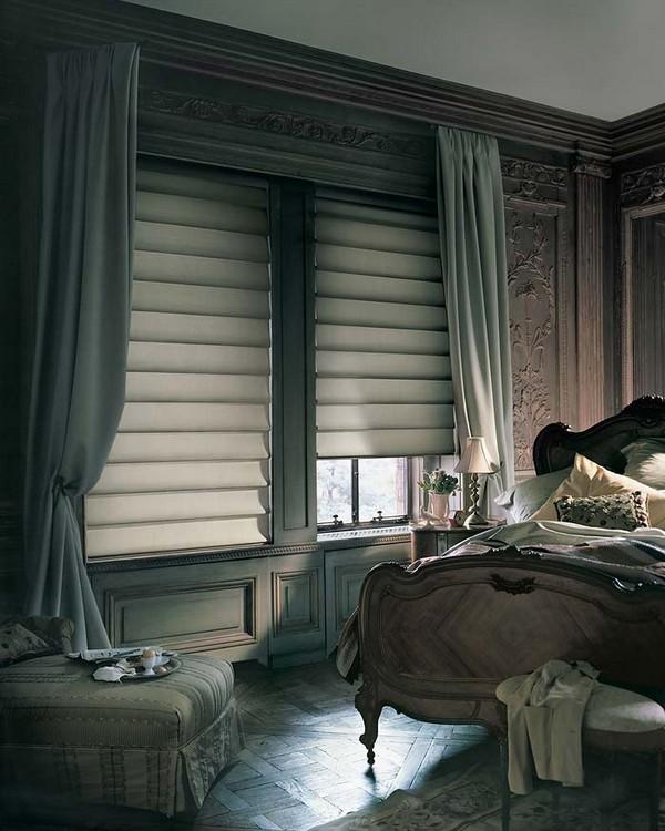 Роскошные шторы для роскошной спальни фото