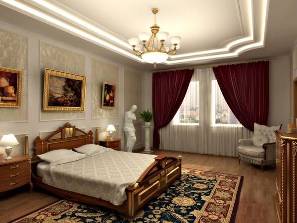 красивые шторы для спальни фото