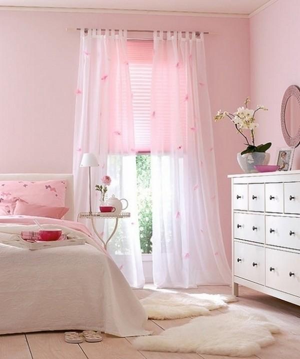 Прозрачные шторы в спальню фото