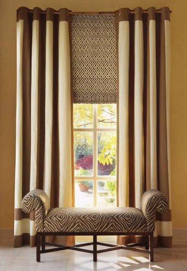 шторы на люверсах в спальню