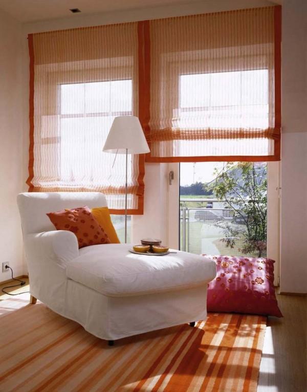 Тканевые рулонные шторы для спальни фото