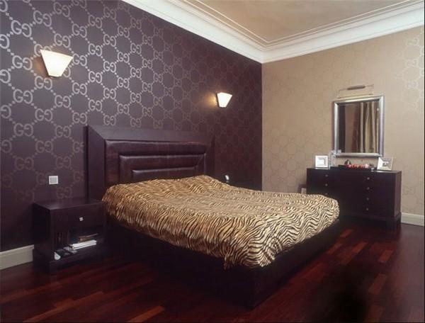 Велюровые обои для спальни