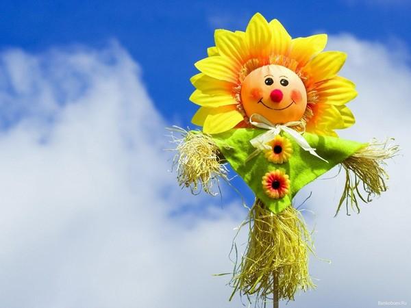 Солнечное пугало на огород