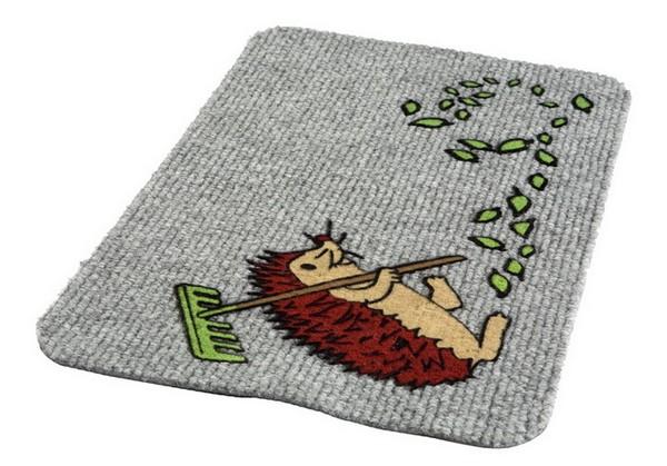 придверный коврик с рисунком
