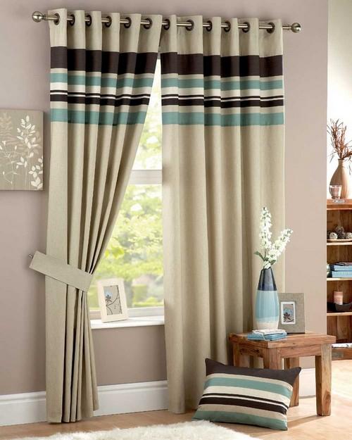 шторы на люверсах для гостиной