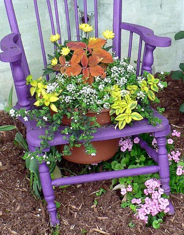 Что можно сделать из старых стульев для дачи