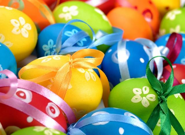 Крашеные яйца на Пасху 2015 фото