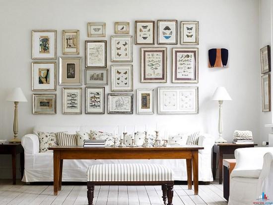 Тренд дизайна интерьера 2015 - стена галерея