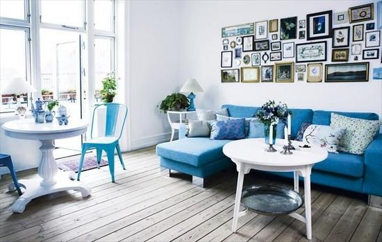 Модные новинки дизайна интерьера 2015 - стена с картинами