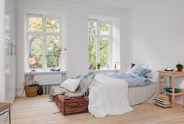 Отсутствие штор на окнах возможно только в скандинавских стилях