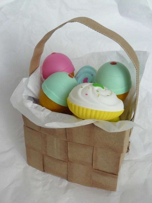 Бумажные корзинки для пасхальных яиц