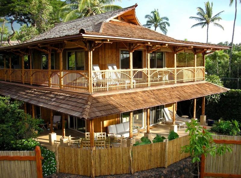 Дома из бамбука фото